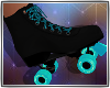 Roller Skates Blk Aqua