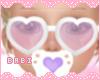 Heart Glasses Purple