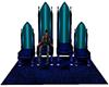 Blue Pvc Thrones