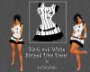 BLACK DIVA STRIPED DRESS