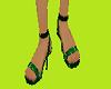 lighting green heel shoe