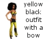 yellow black outfit