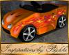 I~Lil Orange Hot Rod Car