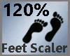 Feet Scaler 120% M A
