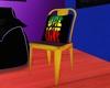 Yellow Rasta Metal Seat