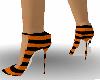 orange and black heels