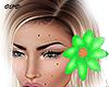 Hair Flower Left /Green