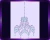 elegant teal chandelier