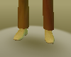 male shoes gold