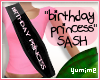 [Y] Birthday Girl Sash