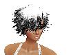 hair white black f