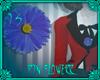(IS) Pin Flower - Blue