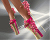 T- Flowers High Heels