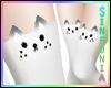 White Grey Kitty Socks