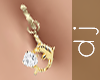 Gold Dolphin Belly Ring