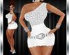 XXL White Diamond Dress