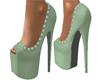 Mint Fleur Heels