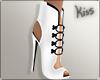 KM|Stef White Boots