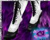 Vintage White Fur Boots