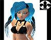 Electro Girl Neon Blue