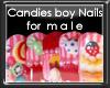 +vkz+ Candy boy nails