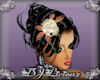 DJL-Rose Hair Pin CrmBrn