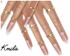 |K Lariat Nails + Rings