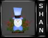 WinterCabin Snowman Deco