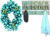 teal Xmas wreath n rack