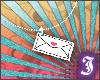 $I - envelope necklace