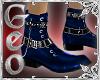 Geo Dress Boots blue
