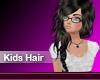 (M) Kids Black Tan Hair