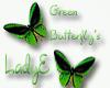 *Green/Black* Butterfly
