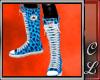 Converse Blue Leopard