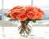 Fall Roses In Vase 1