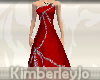 Glitter Evening Gown Red
