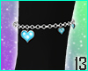 Crow Heart Anklet L