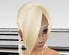 light blonde base bangs