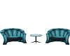 Double Blue Chairs