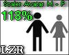 Scaler Avatar M - F 118%