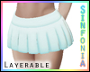 Layer. Turquoise Skirt