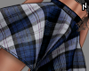 N. Plaid Skirt Blue M