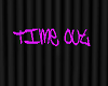 Timeout wall sign