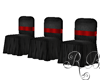 Black Red Wedding Chairs