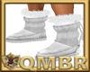 QMBR Fur Boots White