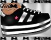 Black White Pink Kicks