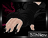 5th:. Black fur gloves