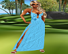 Summer Blue Slit Dress