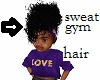 kids gym sweaty hair blk