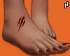 N. Cut Feet + Red Nails